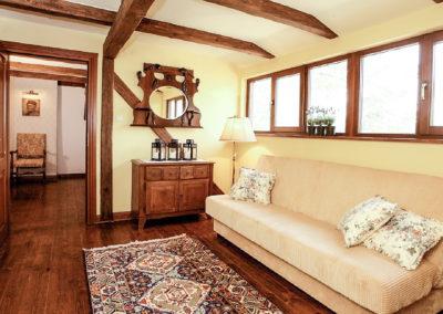 duży pokój w domu na mazurach